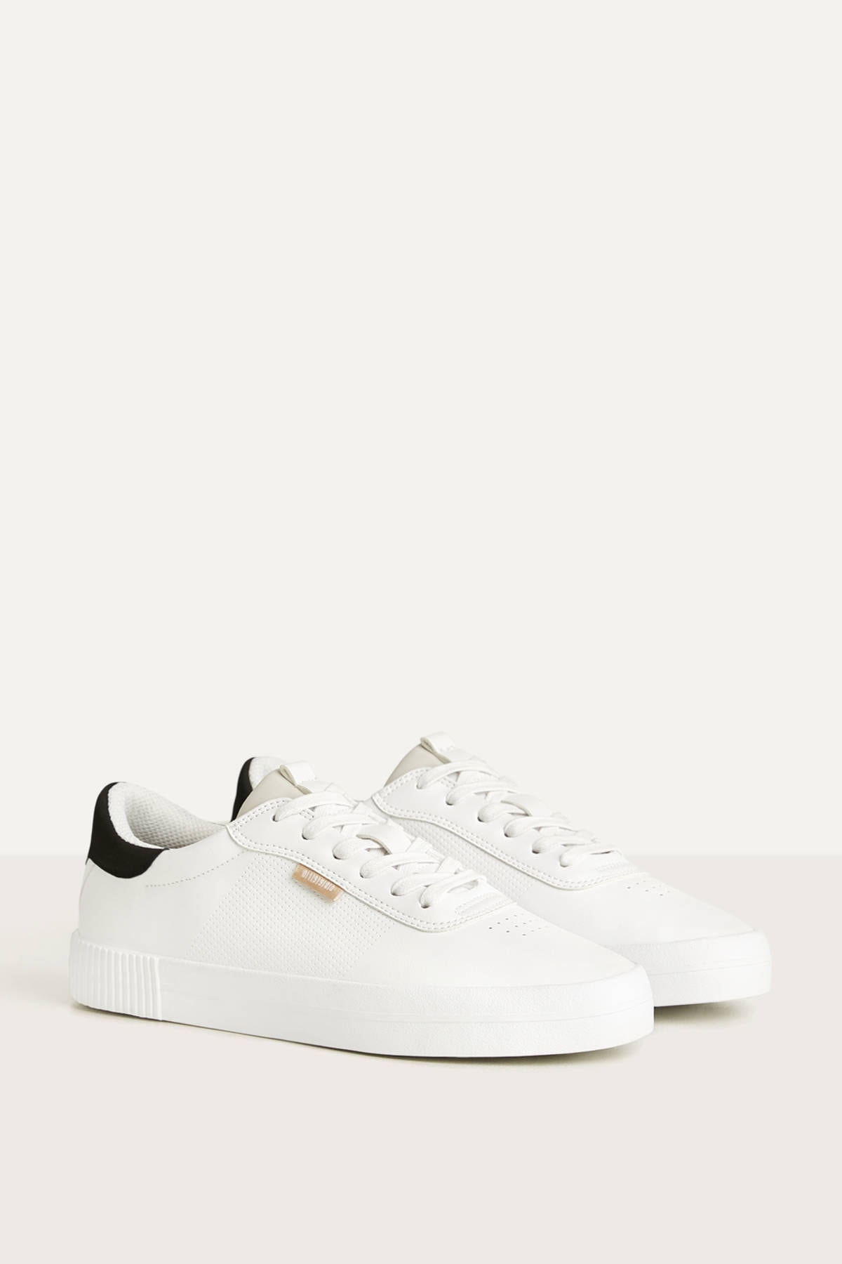 Bershka Erkek Beyaz Kontrast Spor Ayakkabı 12400660 0