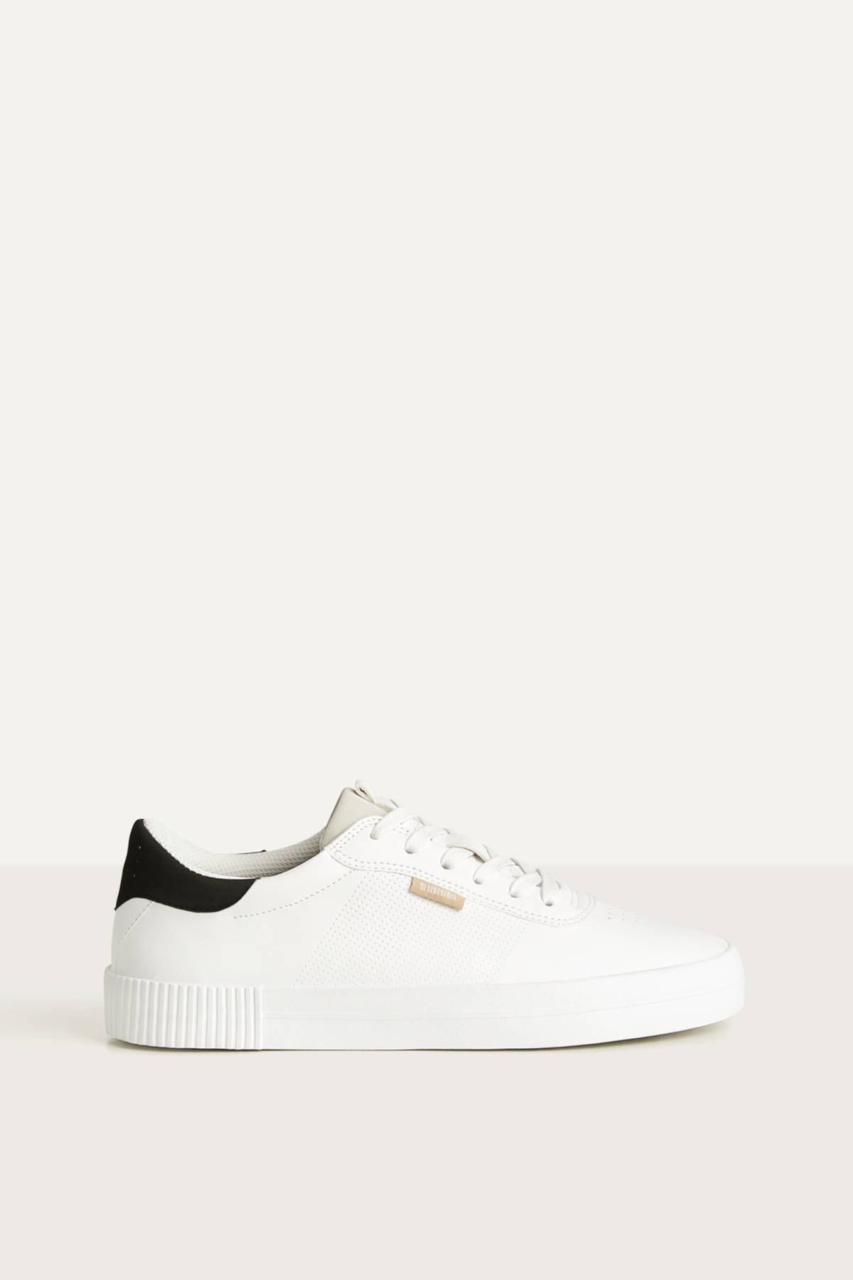 Bershka Erkek Beyaz Kontrast Spor Ayakkabı 12400660 2
