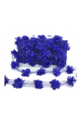 BalonEvi Lacivert Lazer Kesim Çiçek Tül 5 metre 0