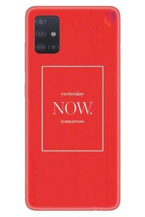 Wolf Dizayn Samsung Galaxy A51 - Kırmızı Silikon - Now 0