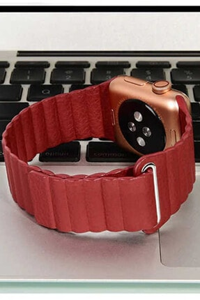 Coverzone Apple Watch Kayış 42 Mm Deri Pembe 2