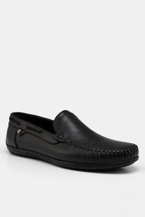 Hotiç Hakiki Deri Siyah Erkek Loafer 1