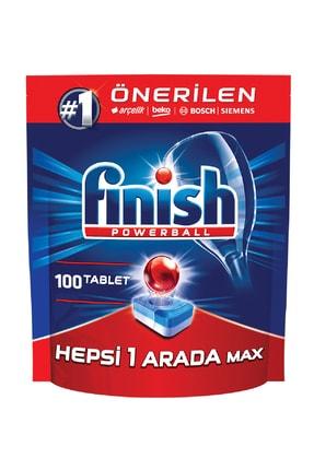 Finish Hepsi Bir Arada 100 Tablet Bulaşık Makinesi Deterjanı 1
