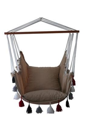 ALTINOLUK HAMAK Altınoluk Sandalye Sal��ncak Yeni Püsküllü ( Bej ) 0