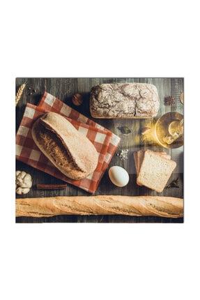 PRATİK DEKOR Cam Ocak Arkası Koruyucu | Ekmek Model 1