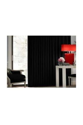 Taç Blackout Karartma Fon Perde Ekstraforlu Düz Dikiş - Siyah 200x260 1