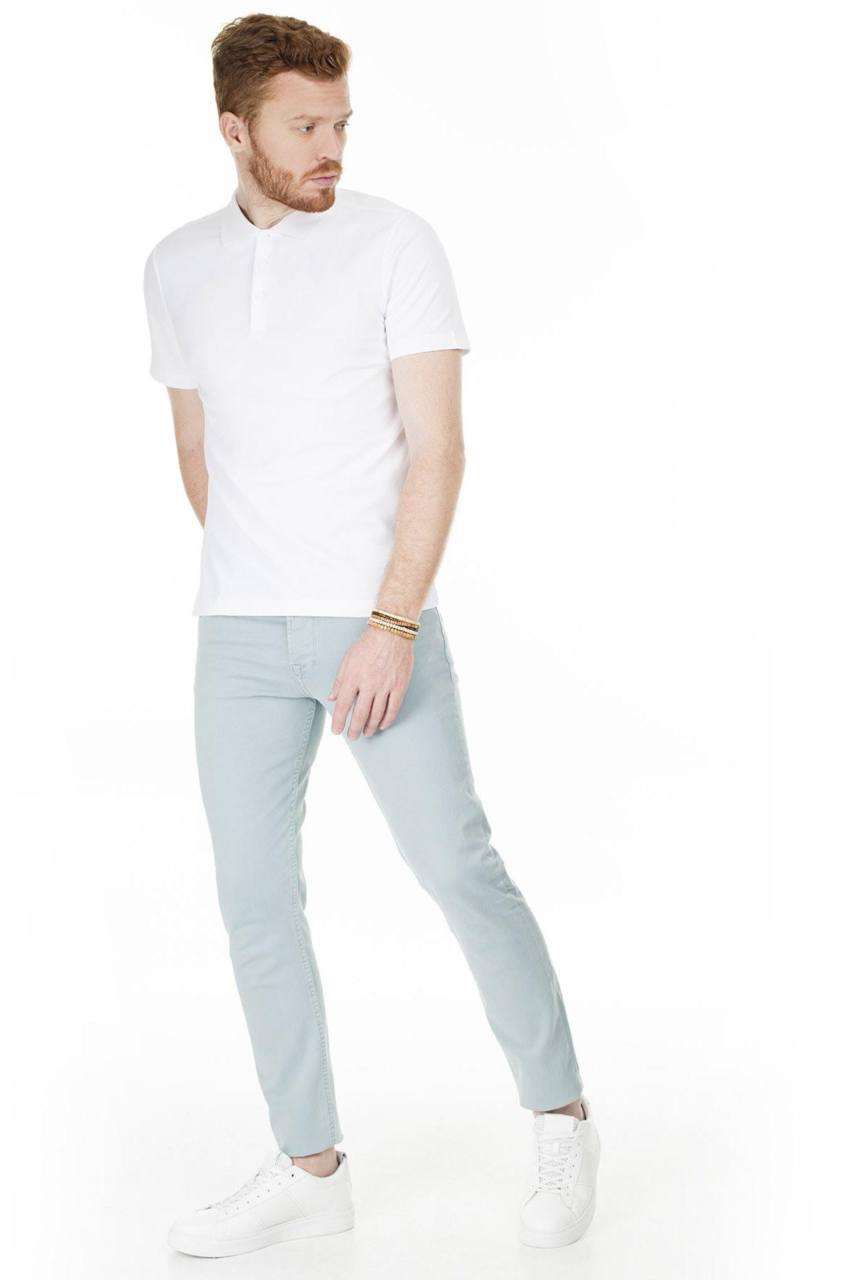 Buratti Erkek AÇIK MAVİ Normal Bel Dar Paça Slim Fit Jeans Pamuklu Kot Pantolon 7299F0287ARTOS 0