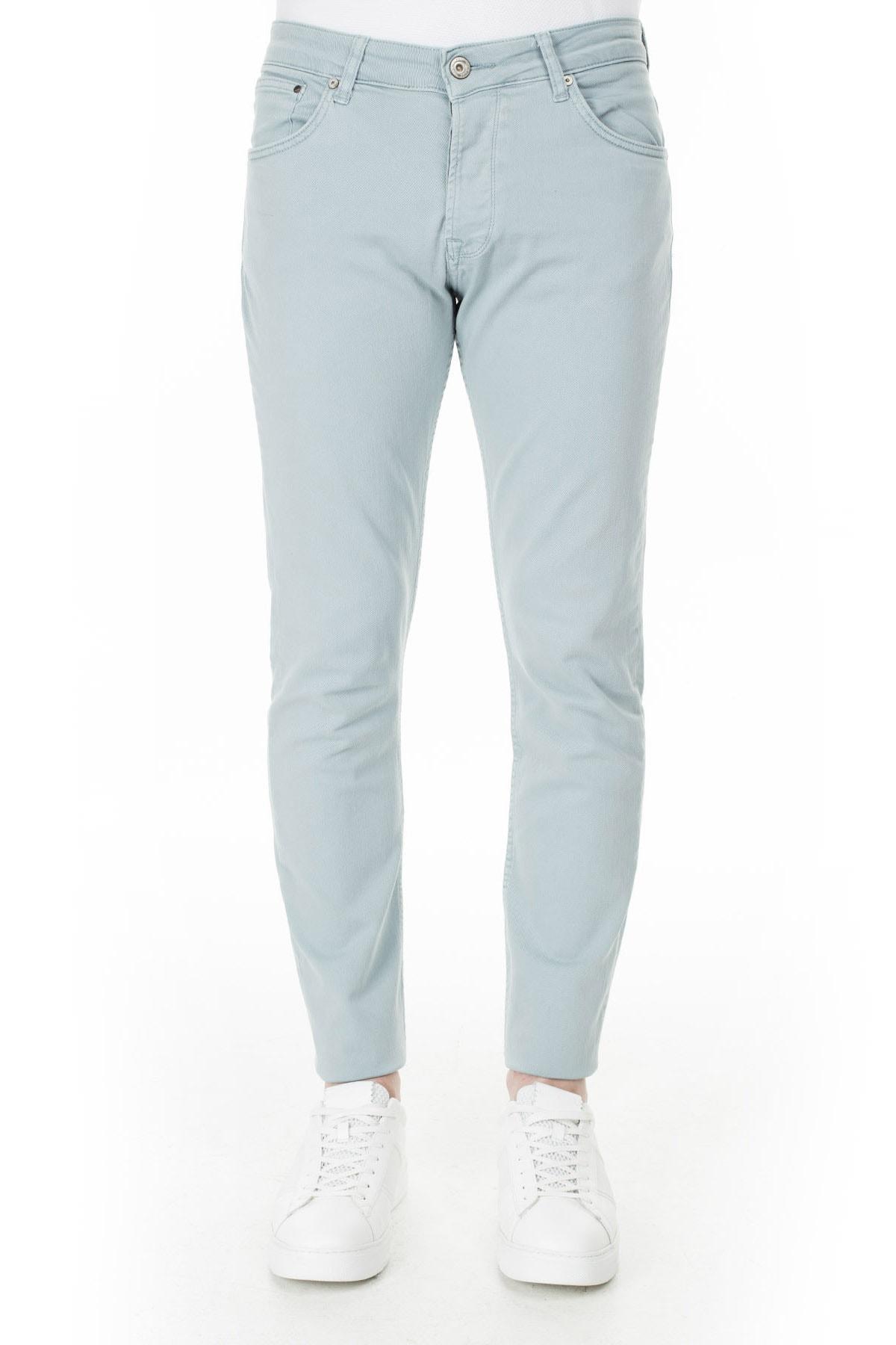 Buratti Erkek AÇIK MAVİ Normal Bel Dar Paça Slim Fit Jeans Pamuklu Kot Pantolon 7299F0287ARTOS 2