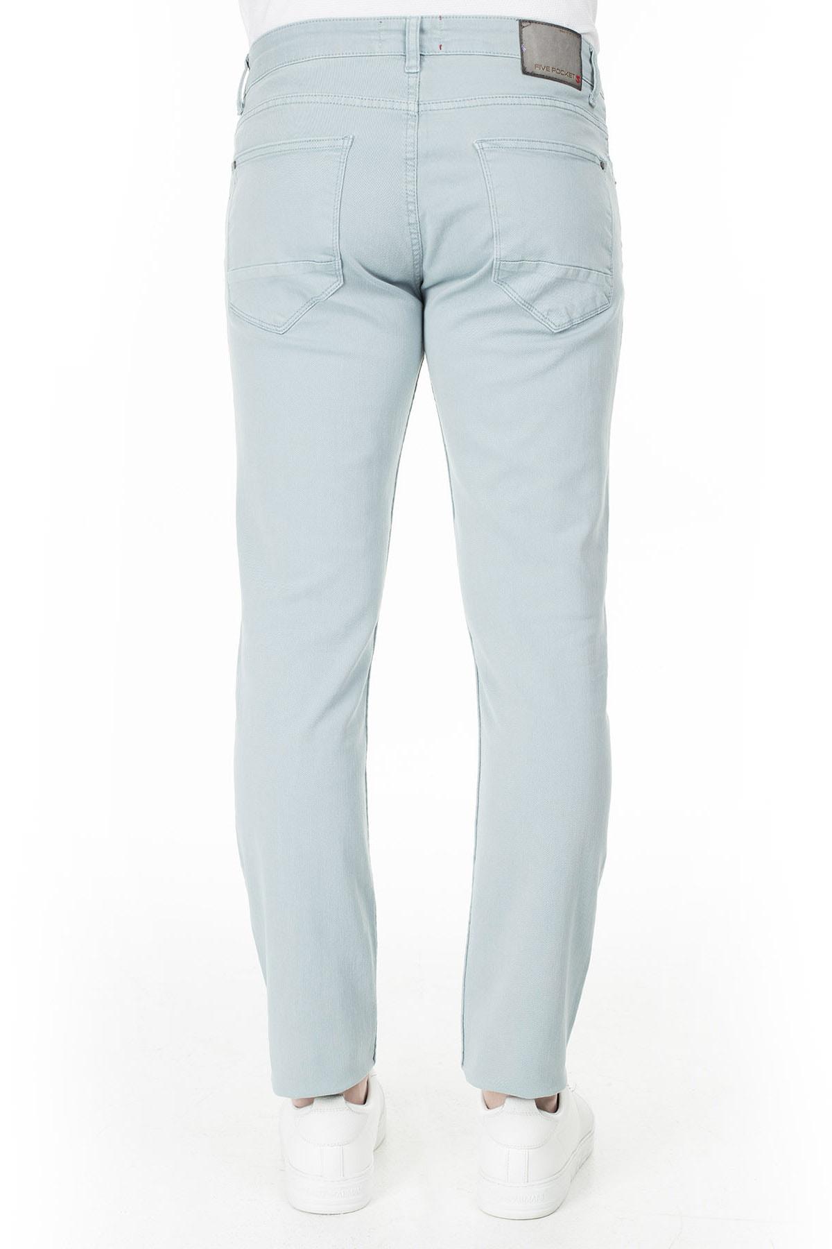 Buratti Erkek AÇIK MAVİ Normal Bel Dar Paça Slim Fit Jeans Pamuklu Kot Pantolon 7299F0287ARTOS 3