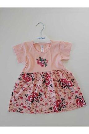 Kız Çocuk Çiçek Detaylı Pembe Elbise PMBE0025857100