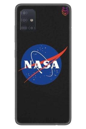 Wolf Dizayn Samsung Galaxy A51 - Siyah Silikon - Nasa 0
