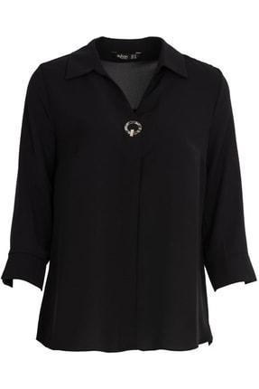 Ayhan Gömlek Yaka Bluz - 81285 Siyah 0
