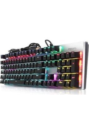 Philips Spk8404 Siyah/gümüş Rainbow Mekanik Oyuncu Klavye 0