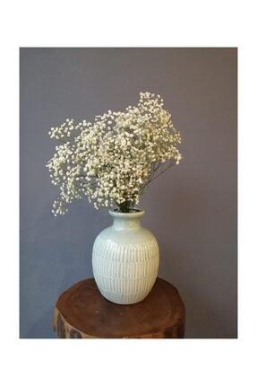 Kuru Çiçek Deposu Kuru Çiçek 1.kalite Şoklanmış Dökülmeyen Natural Beyaz Cipso Demeti 0