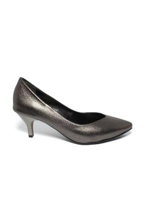 İncimoda Kadın Platin Ince Topuklu Ayakkabı 1