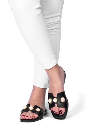 OCT Shoes Taşlı Siyah Kadın Terlik TS1035 0