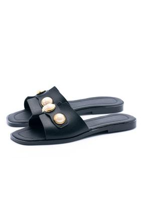 OCT Shoes Taşlı Siyah Kadın Terlik TS1035 2
