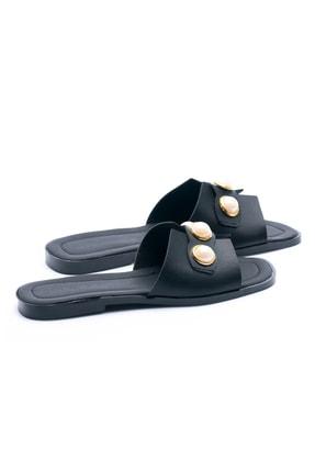 OCT Shoes Taşlı Siyah Kadın Terlik TS1035 3