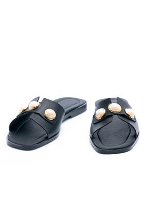 OCT Shoes Taşlı Siyah Kadın Terlik TS1035 4
