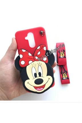 Kılıfsiparis Huawei Mate 20 Lite Minnie Mouse Cüzdan Askılı Silikon Kılıf 1