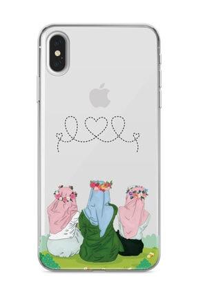 wowicase Apple iPhone XS Max Telefon Kılıfı Çiçekli Dostlar Tasarımlı 0