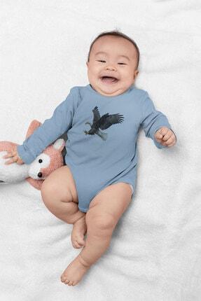 Angemiel Baby Şahin Erkek Bebek Uzun Kollu Zıbın Mavi 1