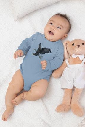 Angemiel Baby Şahin Erkek Bebek Uzun Kollu Zıbın Mavi 2