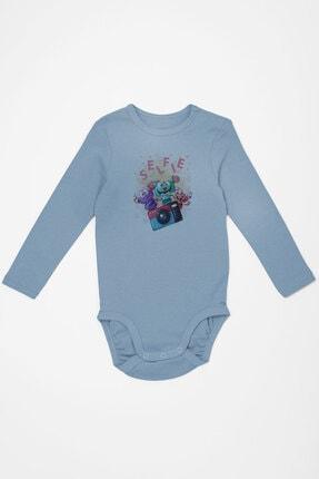Angemiel Baby Fotoğraf Çeken Canavarlar Erkek Bebek Uzun Kollu Zıbın Mavi 0
