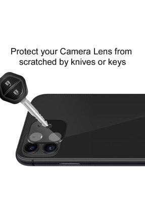 Microsonic Apple Iphone 11 (6.1'') Kamera Lens Koruma Camı V2 Siyah 4