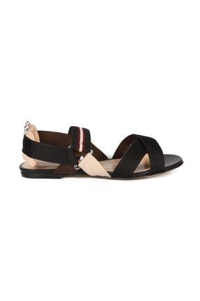 Sofia Baldi Semanta 2 Siyah Kumaş Kadın Düz Sandalet 0