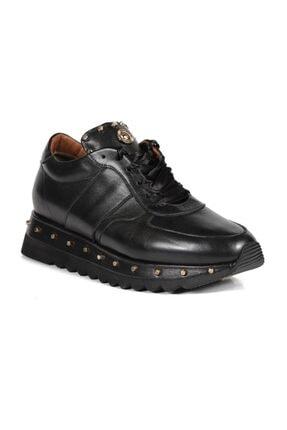 Sofia Baldi Kadın Anaya Siyah Deri Pimli Sneaker 1