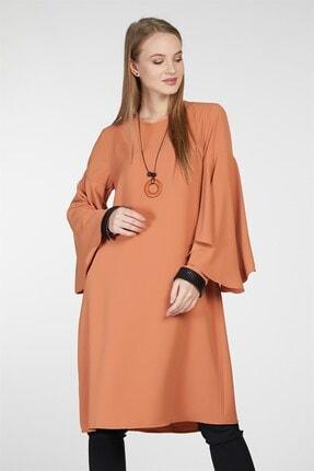 Nihan Kadın Kol Nervür Detaylı Tunik Tarçın 9A3027 1
