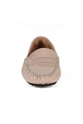 Sofia Baldi Kadın Colover Bej Rugan Loafer Ayakkabı 2