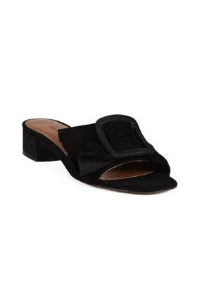 Nikoleta Siyah Süet Toka Kadın Topuklu Terlik 0197 154-R855