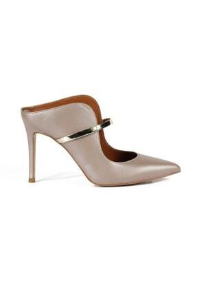 تصویر از Hana Bronz / Altın Deri Bantlı Kadın Stiletto & Abiye Ayakkabı