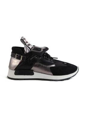 Sofia Baldi Kadın Afra Siyah/gümüş Vegan Bağcıklı Spor Ayakkabı 0