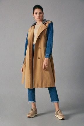 Robin Kadın Camel Trençkot D87010-114 0