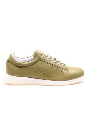 GRADA Fıstık Yeşili Deri Günlük Casual Kadın Ayakkabı 1