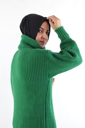 Duha Store Boğazlı Triko Tunik Yeşil 3