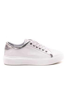 GRADA Beyaz Gümüş Hakiki Deri Günlük Spor Kadın Ayakkabı 0