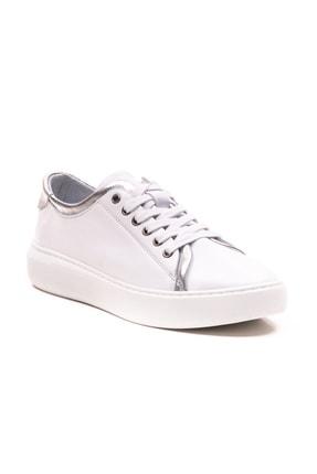 GRADA Beyaz Gümüş Hakiki Deri Günlük Spor Kadın Ayakkabı 3