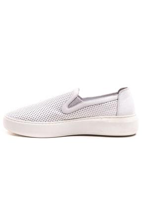 GRADA Beyaz Mokasen Hakiki Deri Kadın Ayakkabı 2