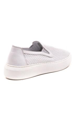 GRADA Beyaz Mokasen Hakiki Deri Kadın Ayakkabı 3