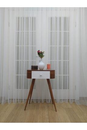 Esse Home Grek Tül Perde - Petek Zemin, 550x250, Sık Pile, 1/3 0