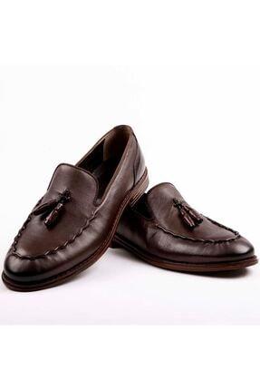 MPP Hakiki Deri Loafer Erkek Ayakkabı Trs503 Kahverengi 1
