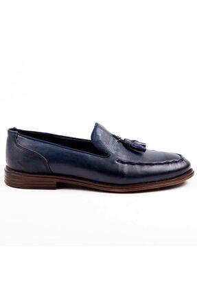 MPP Hakiki Deri Loafer Erkek Ayakkabı Trs503 Lacivert 0