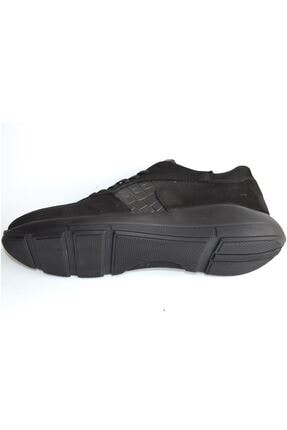 MPP Hakiki Deri Ortopedik Erkek Sneaker Ayakkabı Mboss011 Nbk Krk Siyah 4