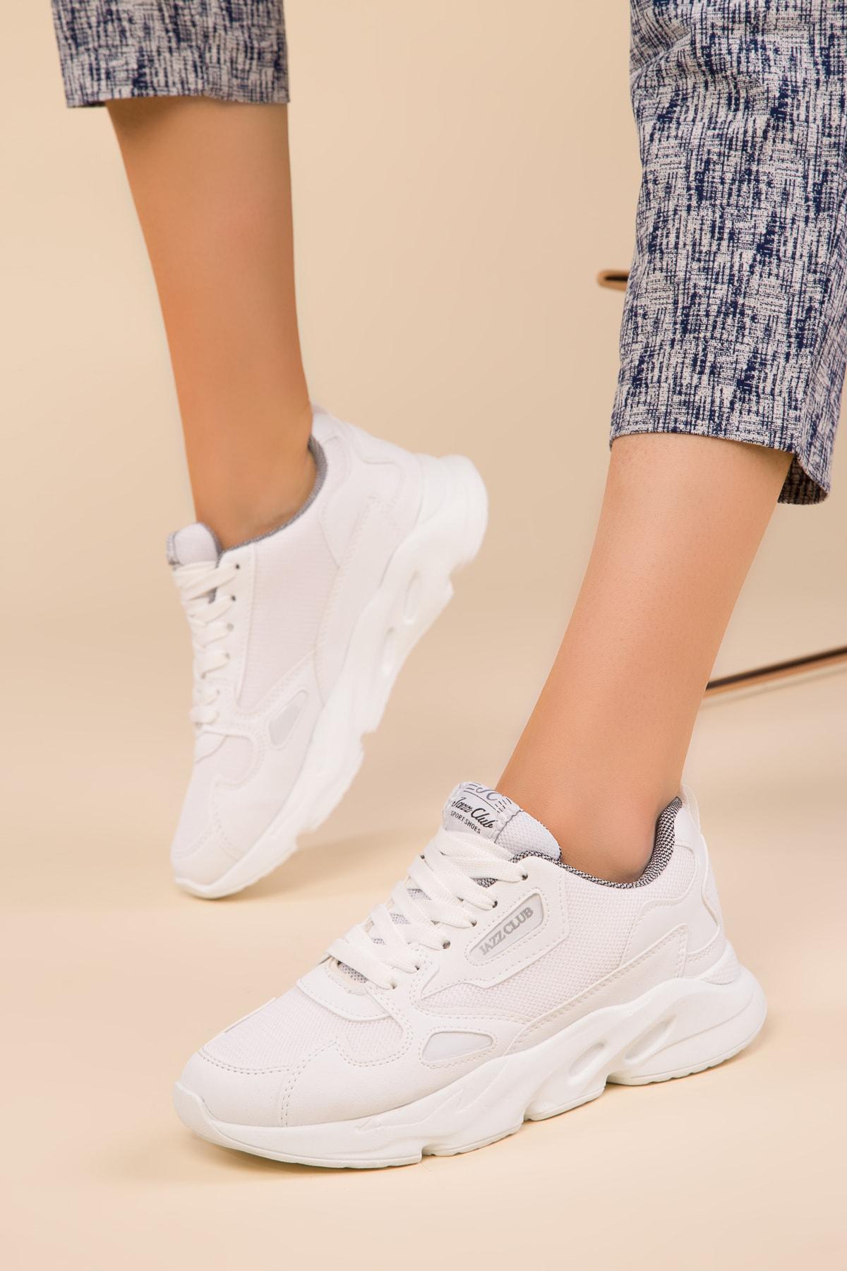 Beyaz Kadın Sneaker 15044