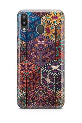 Melefoni Samsung Galaxy M20 Kılıf Patchwork Serisi Mckenzie 0