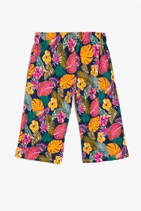Koton Lacivert Desenli Kız Çocuk Pantolon 1